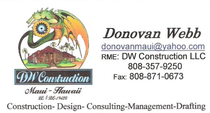 Donovan Webb - DW Construction