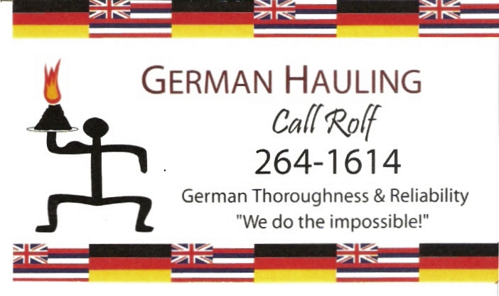 German Hauling We Do The Impossible on Maui